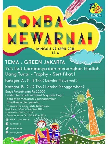 Lomba Mewarnai Berteme Green Jakarta