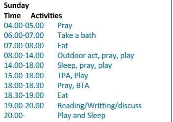 Jadwal Homeschooler Semester Kedua (Usia 5-6 Tahun) 3