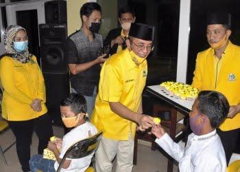 Ketua DPD Partai Golkar Jawa Tengah, Panggah Susanto pada kegiatan HUT ke-56 di DPD Partai Golkar Jawa Tengah di Semarang, Selasa (20/10/2020) malam.